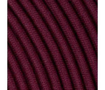 Kynda Light Textilkabel Aubergine - rund, leinen
