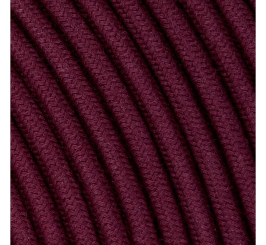 Strijkijzersnoer Aubergine - rond, linnen