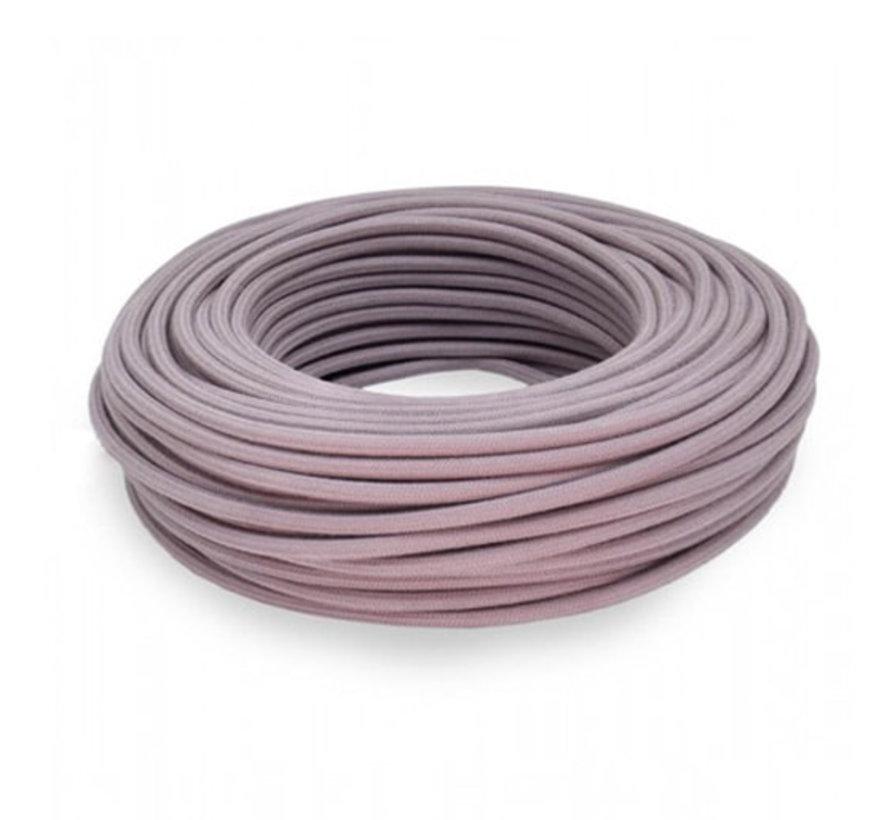Textilkabel Lavendel - rund, leinen