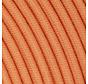 Textilkabel Koralle Orange - rund, leinen