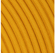 Kynda Light Fabric Cord Ocher Yellow - round, linen