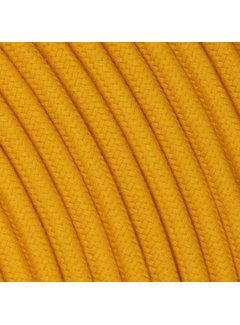 Kynda Light Textilkabel Ockergelb - rund, leinen