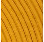 Fabric Cord Ocher Yellow - round, linen