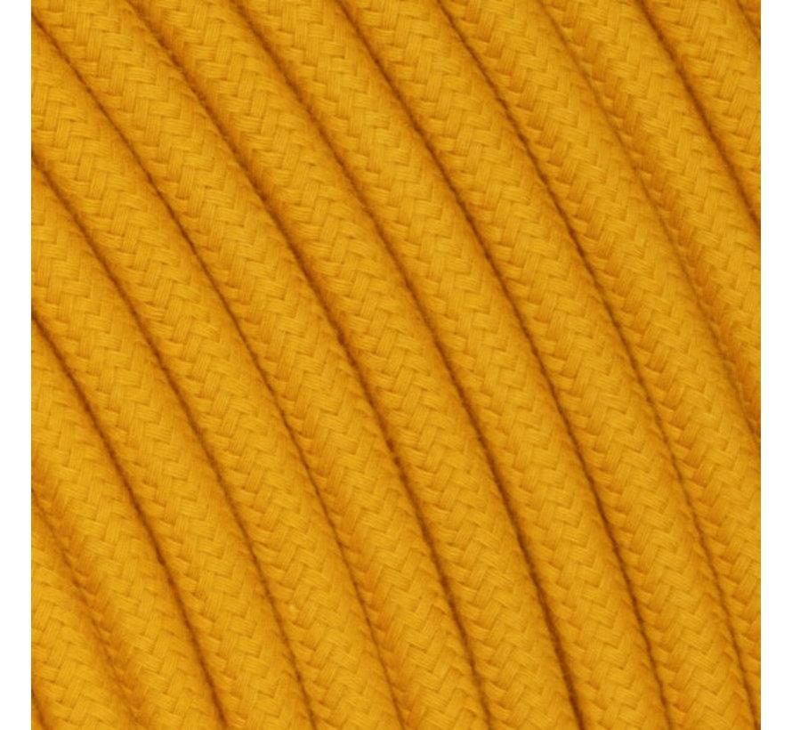 Strijkijzersnoer Okergeel - rond, linnen