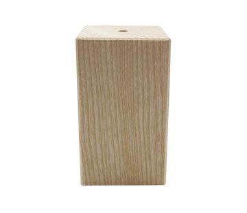 Kynda Light Wooden Lamp Holder 'Woody' Square large