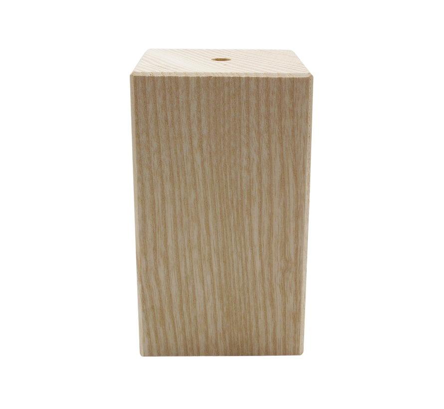 Fassung 'Woody' Holz Quadrat Modell (hoch) - E27
