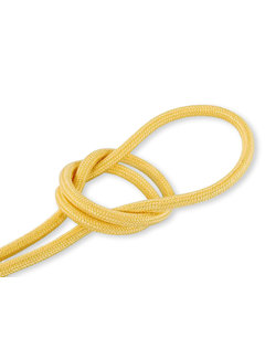 Kynda Light Fabric Cord Yellow - round, linen
