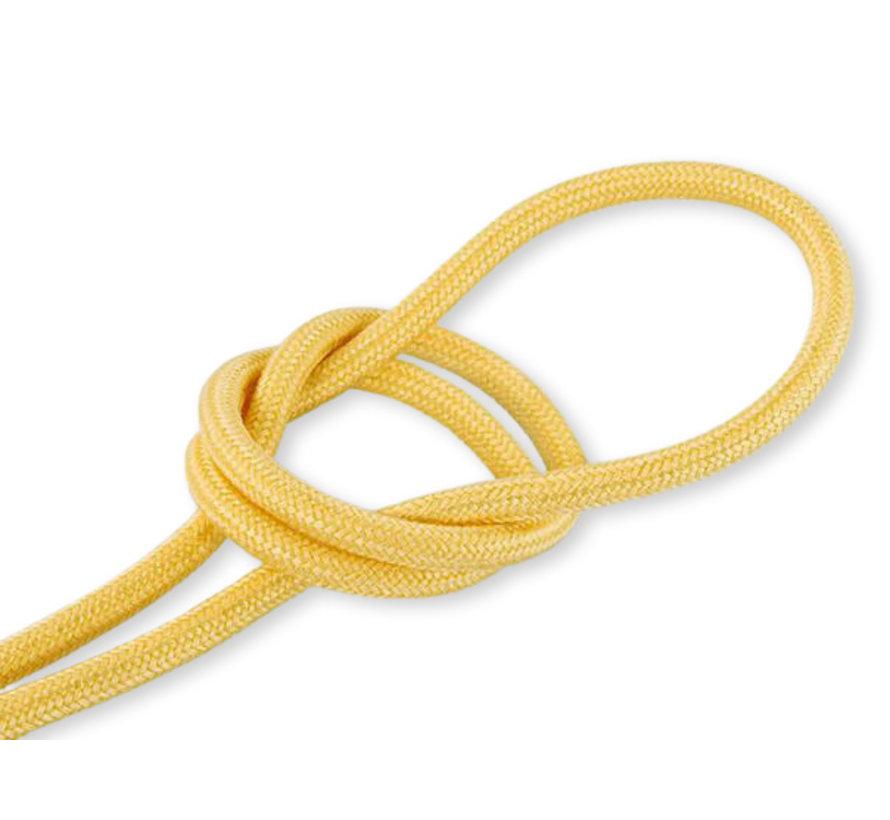 Textilkabel Gelb - rund, leinen
