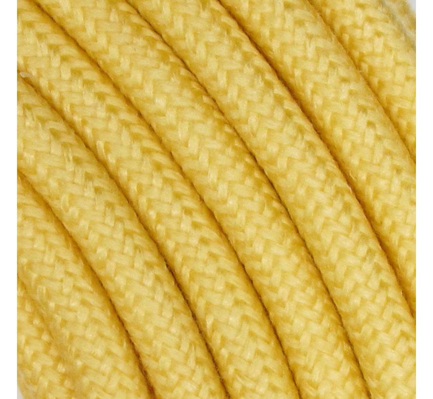 Fabric Cord Yellow - round, linen