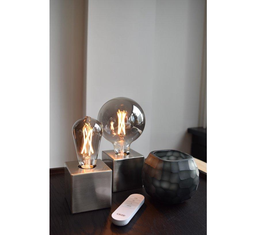 SMART LED Light Bulb Smoky Titanium Globe Lamp - G125 - E27 - 220-240V - 7W - 400lm - 1800-3000K