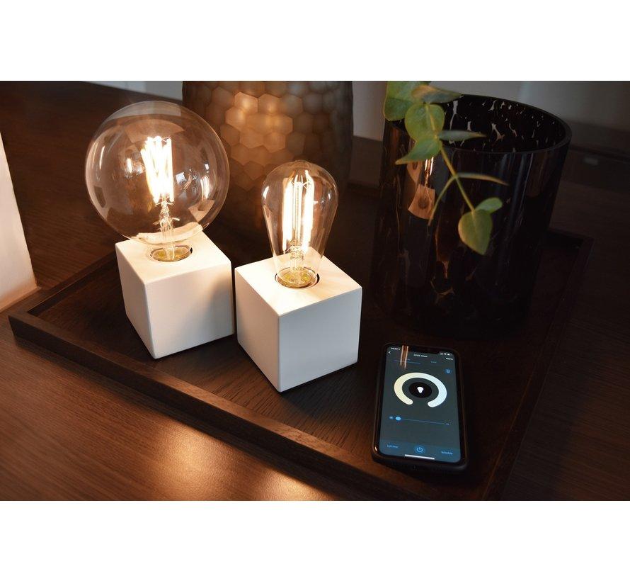 SMART LED-Lampe Klar Globe Lichtquelle - G125 - E27 - 220-240V - 7W - 400lm - 1800-3000K