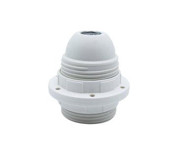 Kynda Light Kunststoff Fassung mit Außengewinde und 2 Stellringen Weiß - E27