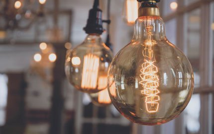 Brighten your interior with our decorative light bulbs