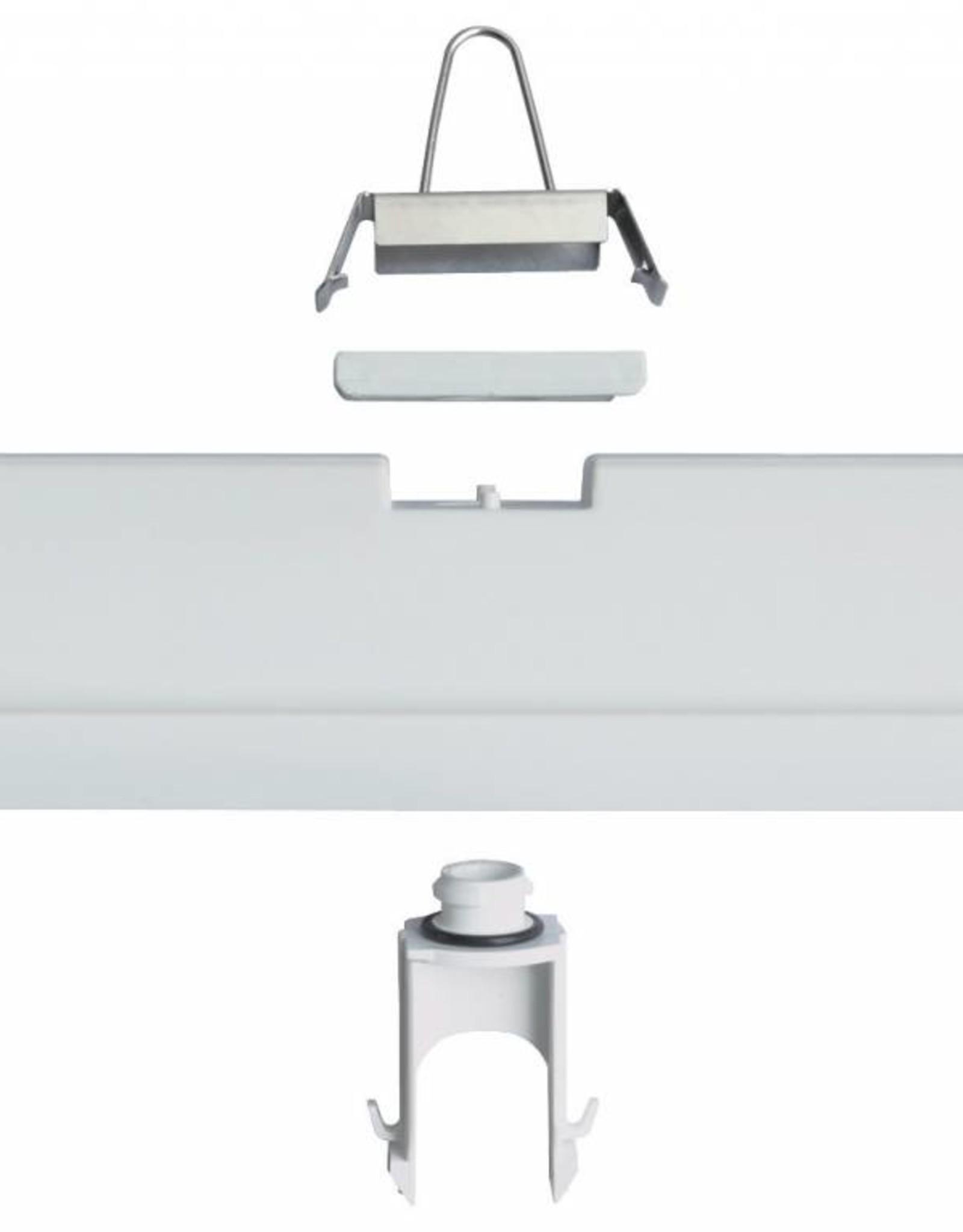 Prima 1x18W - ABS - inox clips - HF ballast