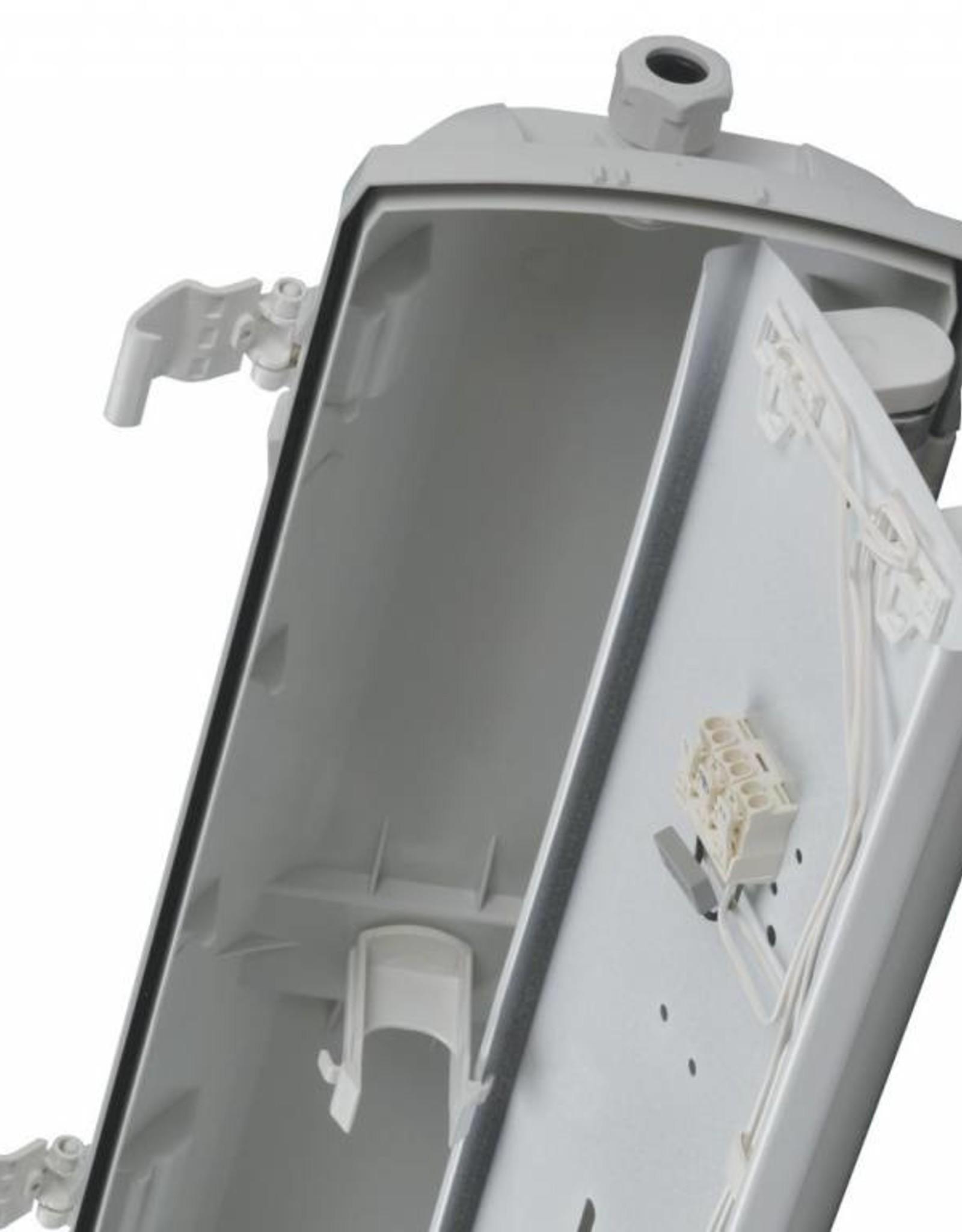Prima 1x58W - ABS - inox clips - HF dimbare ballast