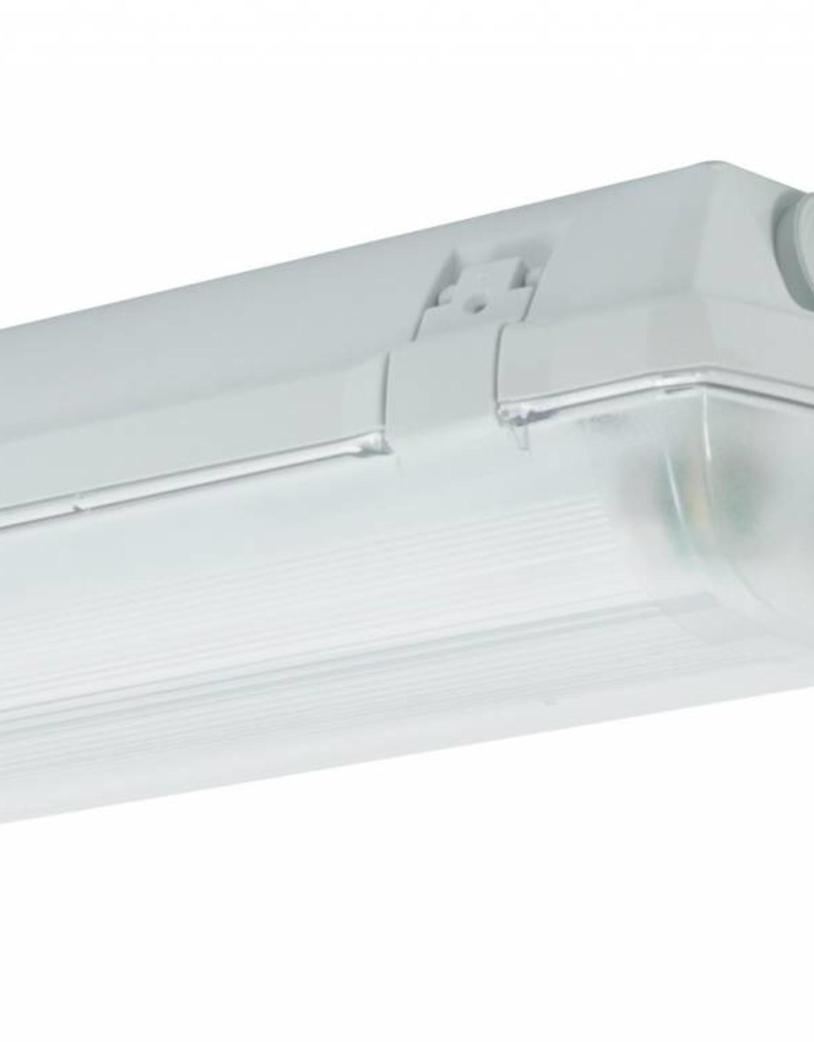 Prima 2x58W - ABS - inox clips - HF dimbare ballast