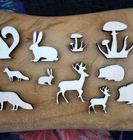 Tafelconfetti bosdieren