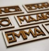 Naamkaartje Emma