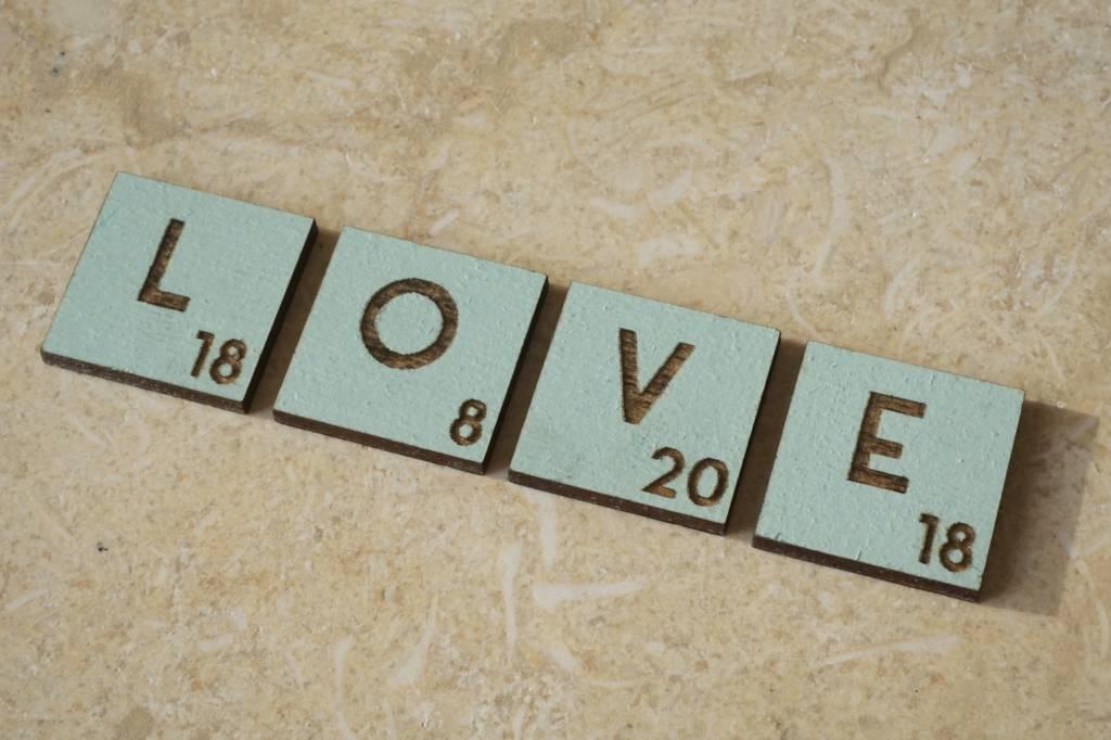 LOVE letters met custom datum