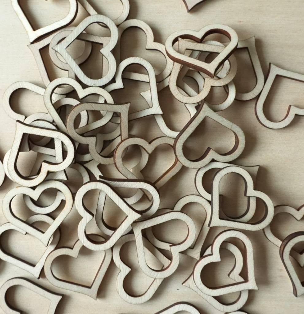 Hartjes contouren van hout
