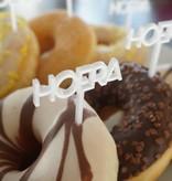 Cupcakestekers Hoera 6 st.