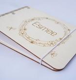 Houten Kraamboek met Krans A5