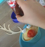 Cupcakestekers rendier 12 setjes