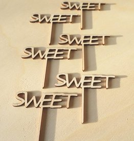Cupcakestekers Sweet 6 st. hout