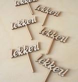 Cupcakestekers Lekker 6 st. hout