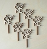 Cupcakestekers Eat-Me 6 st. hout