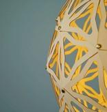 Grote Geometrische kartonnen bollamp Nagoya Bouwpakket