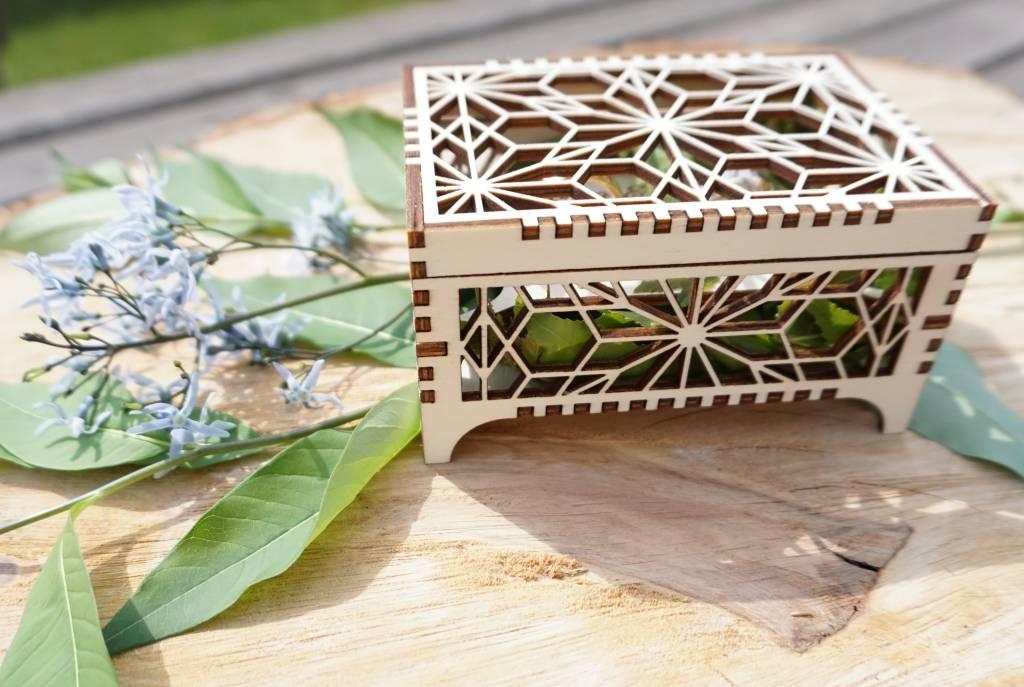Ringendoosje met Origami patroon