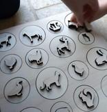 Houten puzzel met 32 stukjes