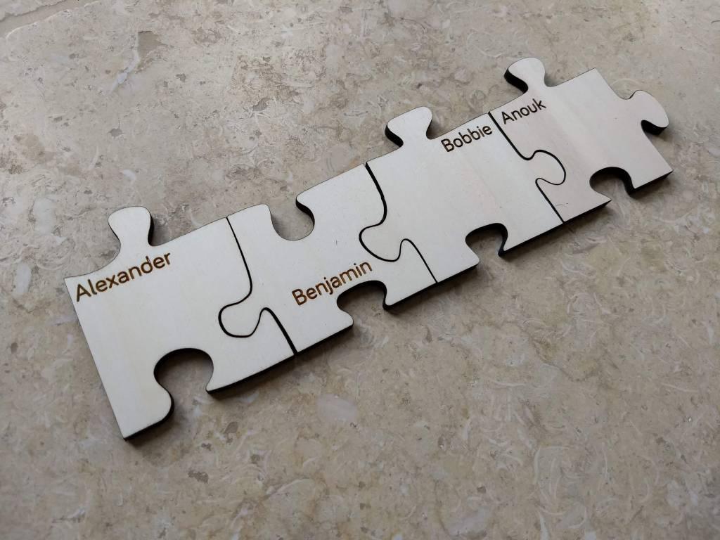 Kleine Puzzelstuk met naam