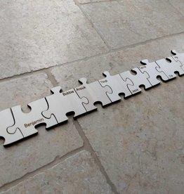 Puzzelstuk met naam klein 7 cm