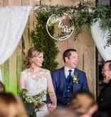 Huwelijkskrans met namen en datum
