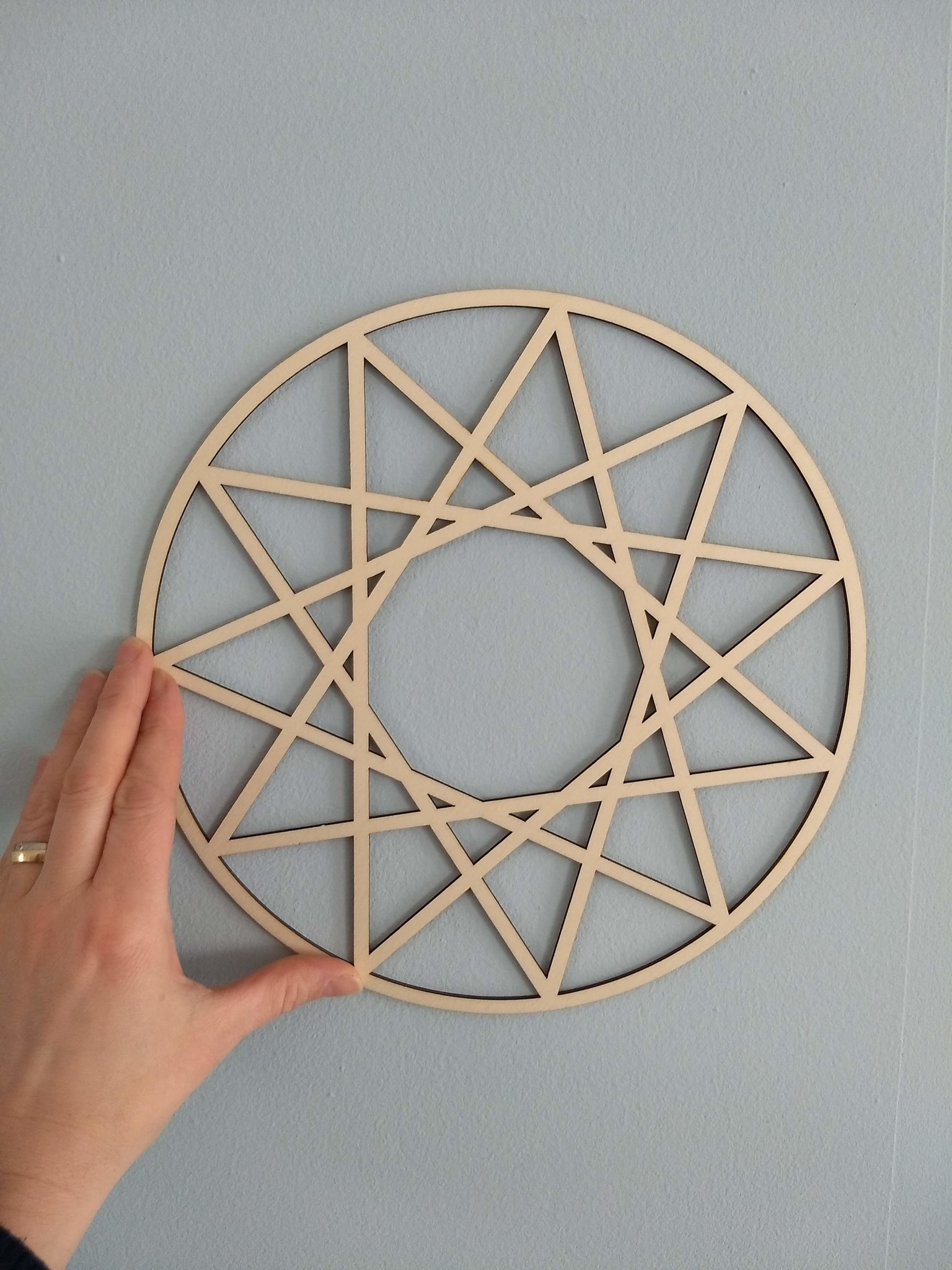 Houten mandala abstract