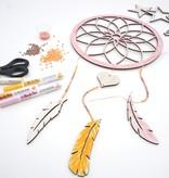DIY Pakket dromenvanger maken perzik/koraal