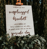 Welkomstbord Unplugged Wedding