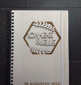 Houten Gastenboek Hexagon