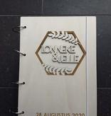Houten Bruiloft Gastenboek hexagon A4