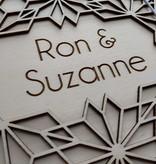 Houten Bruiloft Gastenboek Origami Bloemen A4