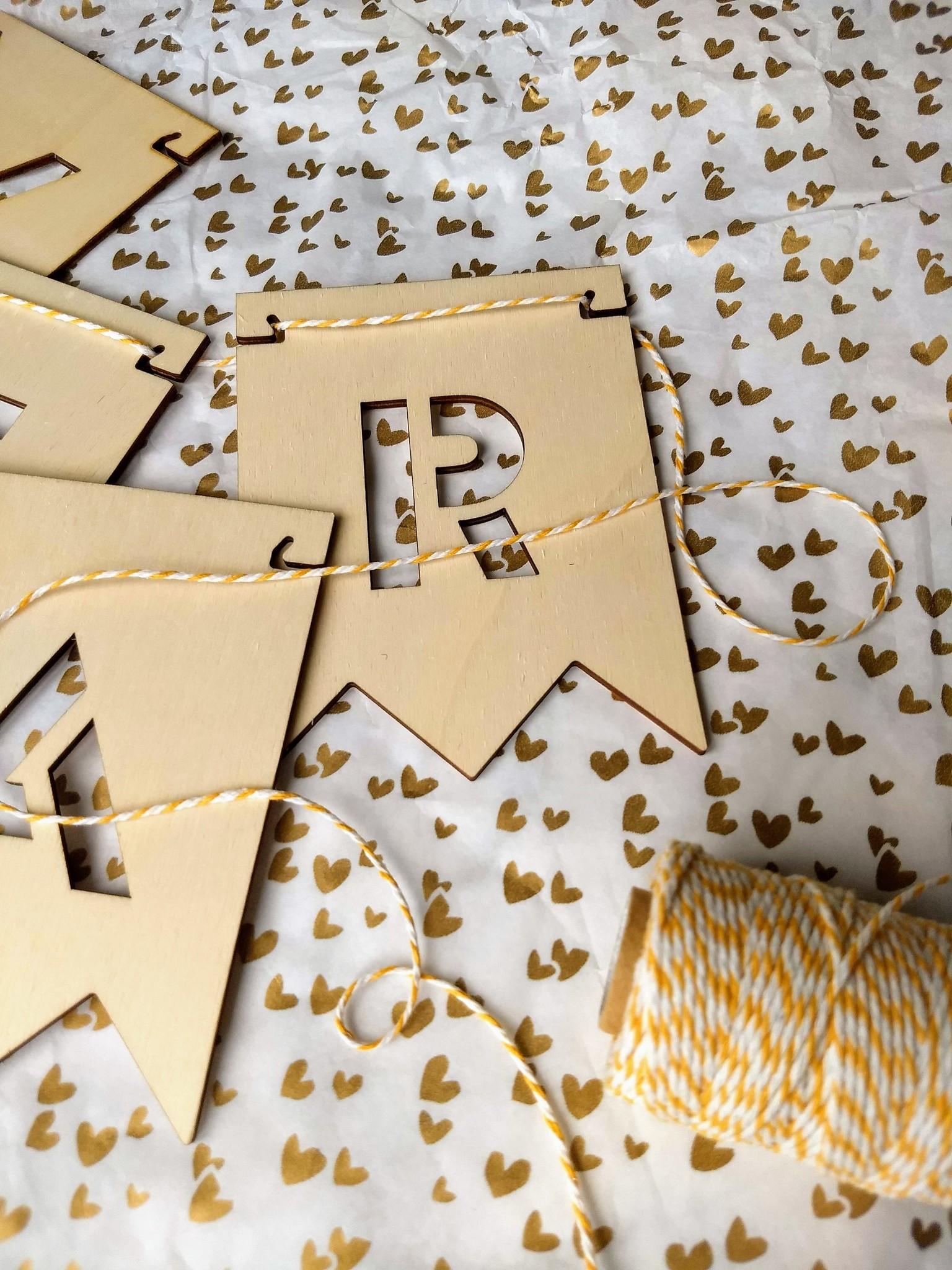 Letter vlaggetjes per letter/teken