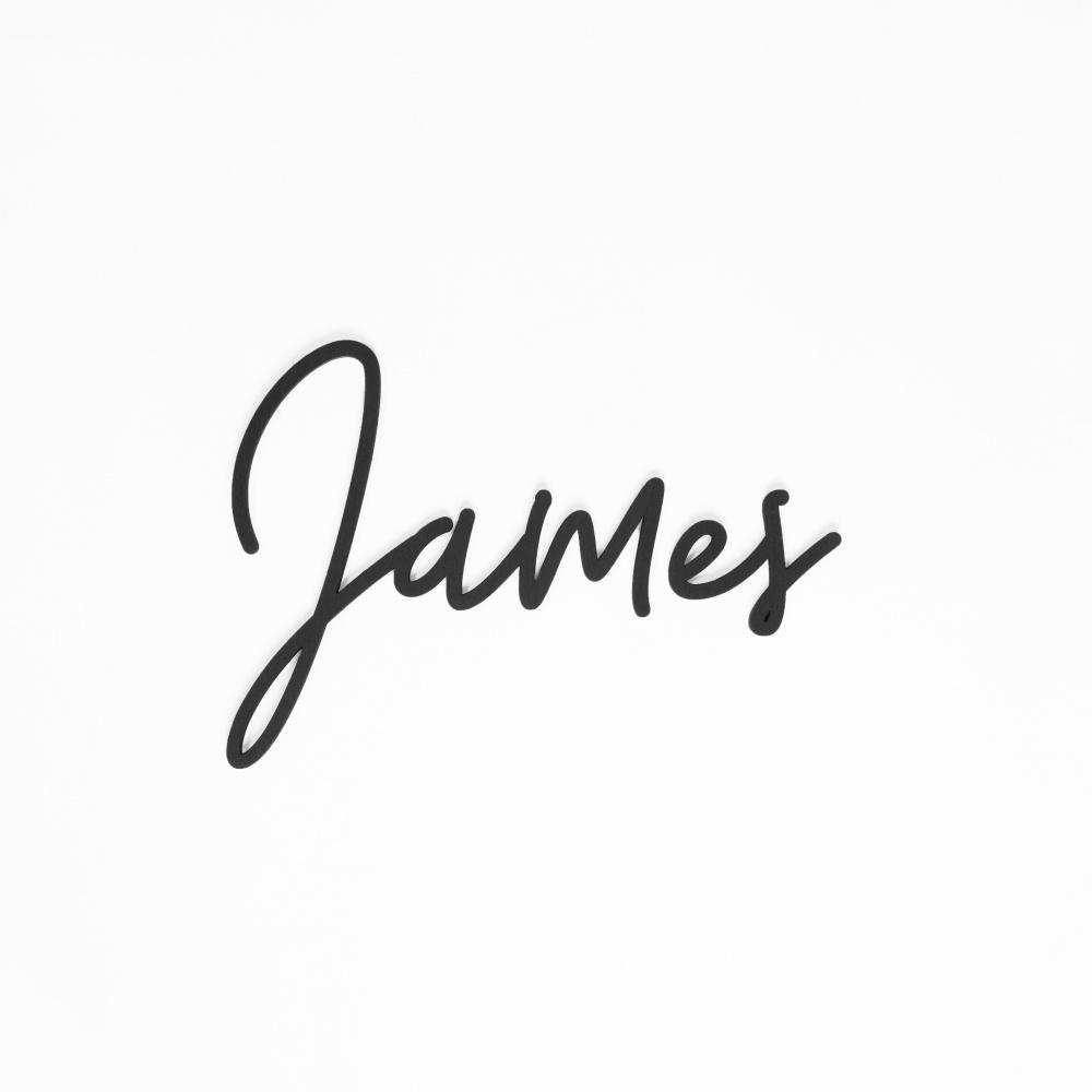 Houten tekst lettertype James