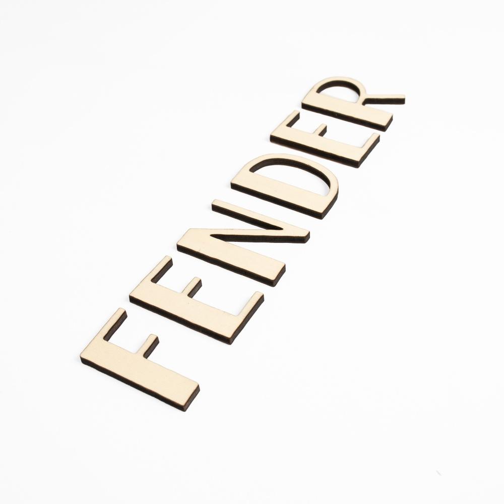 Houten tekst lettertype Fender