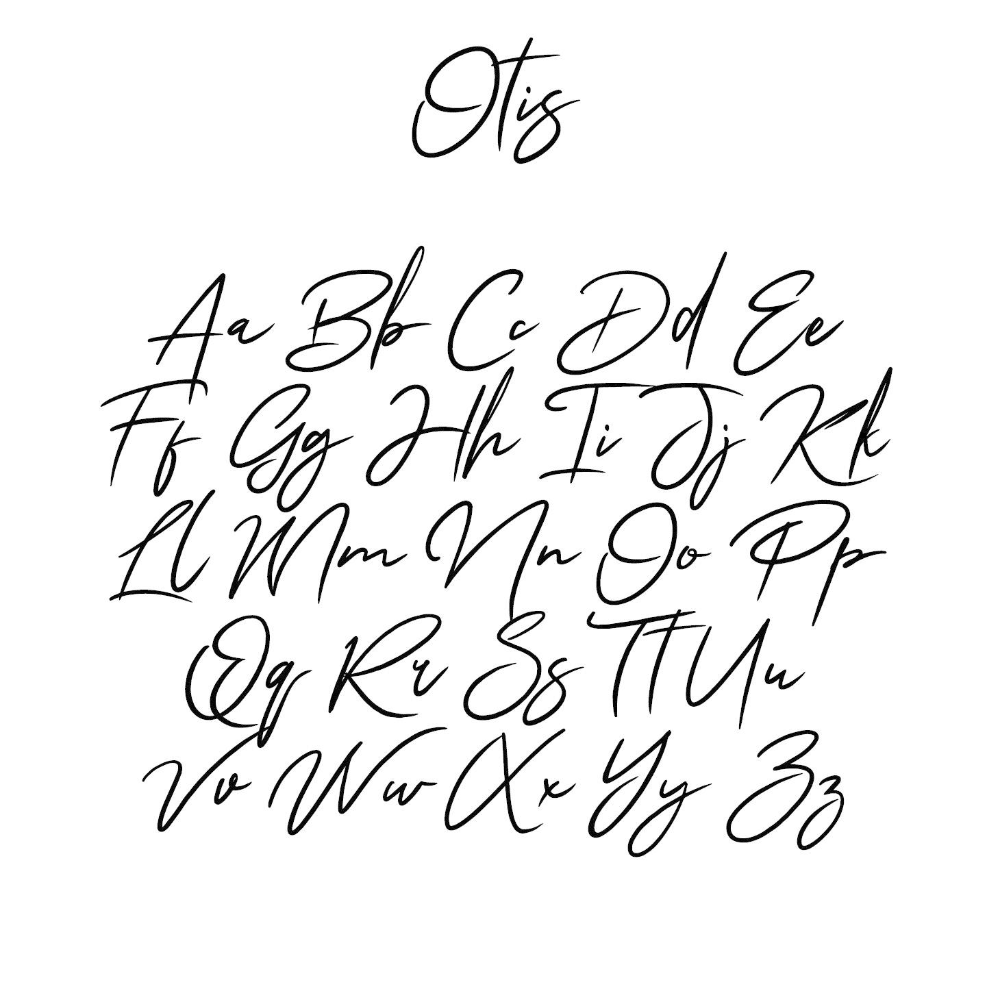Houten tekst lettertype Otis