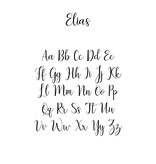 Houten tekst lettertype Elias