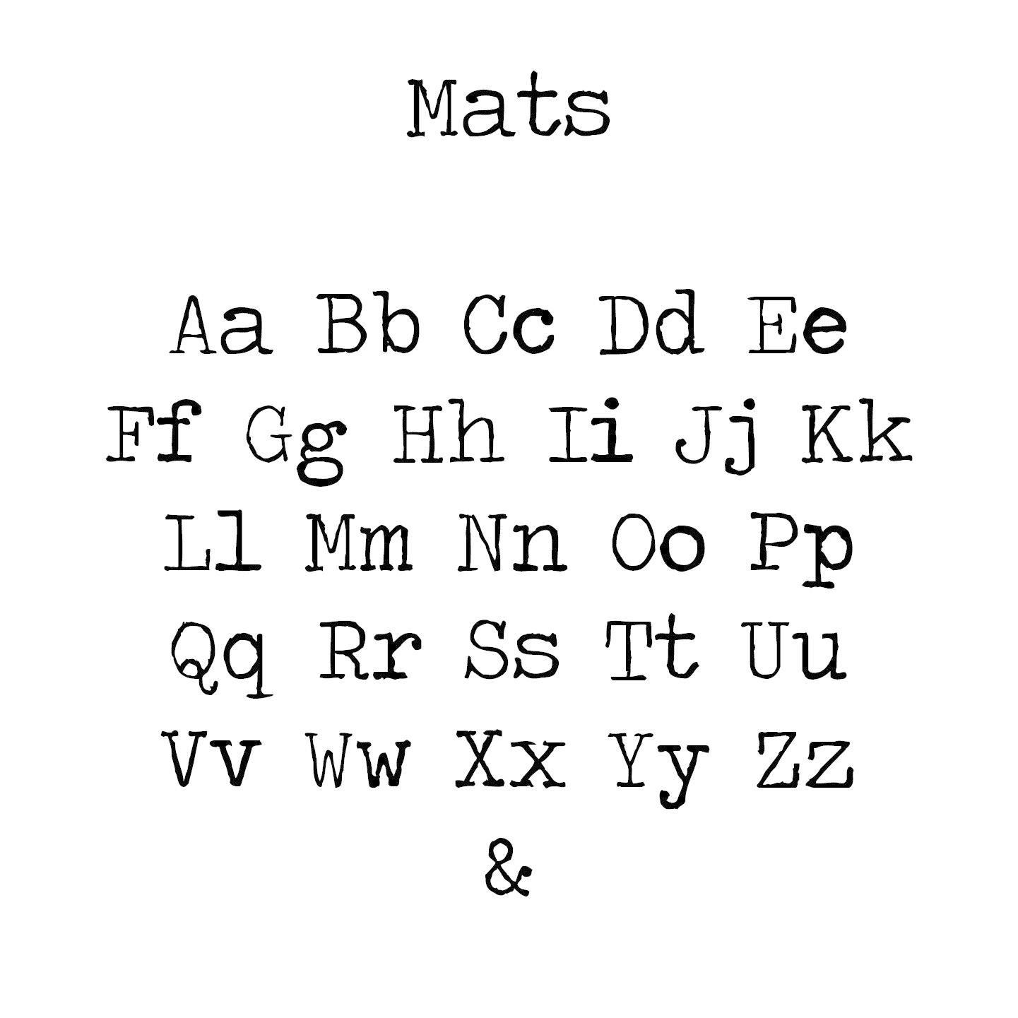 Houten tekst lettertype Mats