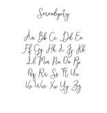 Houten tekst lettertype Serendipity