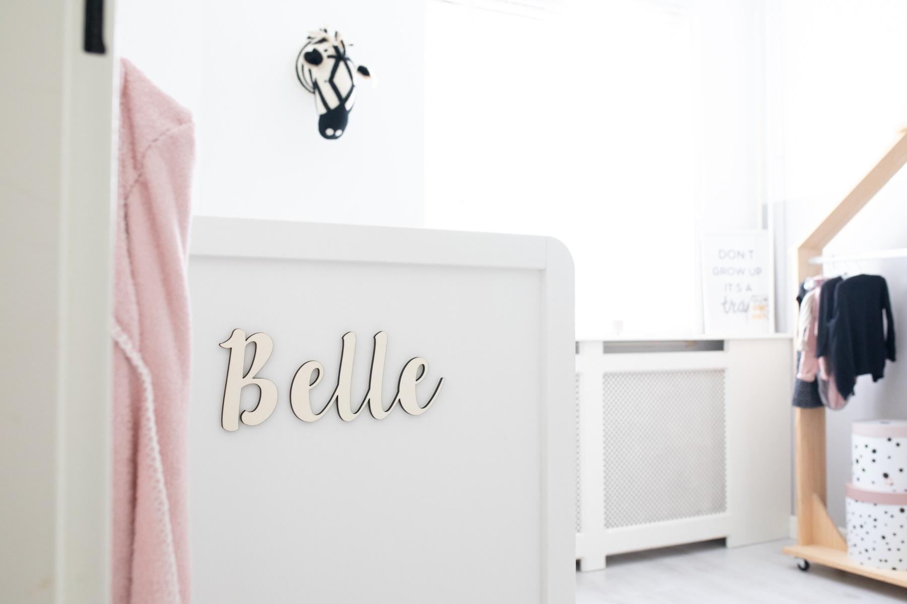 Houten tekst lettertype Belle